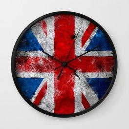 United Kingdom Grunge flag Wall Clock