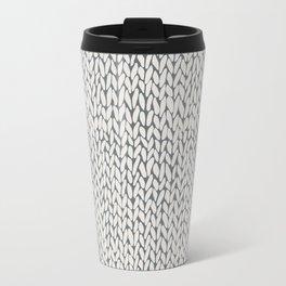 Hand Knit Grey Travel Mug