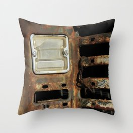 Detail: Rusted International 1 Throw Pillow