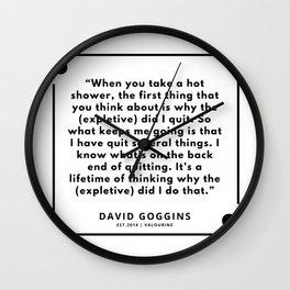 55  | David Goggins Quotes | 190901 Wall Clock