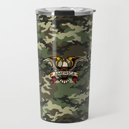 America Eagle Camo Travel Mug