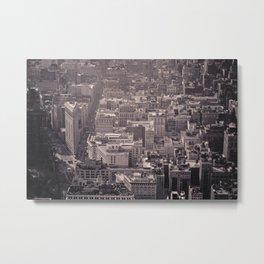 New York City #newyork #blackwhite #flatiron #NYCarchitecture #NYC #Manhattan #bw #empirestate Metal Print