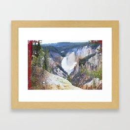 Yellowstone Falls - Artists Point Framed Art Print