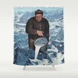 Milky Mountain Shower Curtain