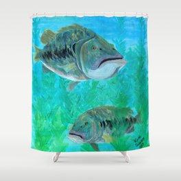 Bass Pairs Shower Curtain