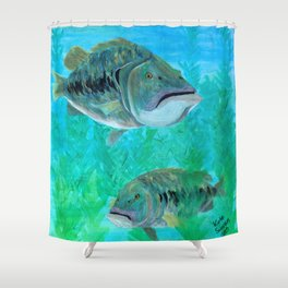 Bass Pairs Shower Curtain