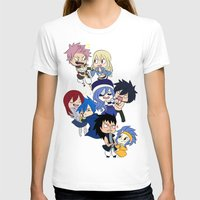 fairy tail T-shirts featuring Fairy Tail Chibi Couples by Minty Cocoa