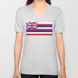 Flag of Hawaii, High Quality image Unisex V-Neck