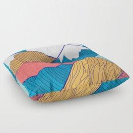 The Crosshatch Sky Floor Pillow