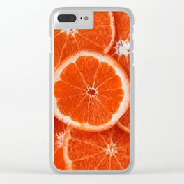 Orange Fruit Slices Clear iPhone Case