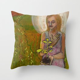 Sower of Seeds Throw Pillow