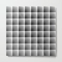 Shades Of Grey Palette Pixel Square Tile Pattern Metal Print