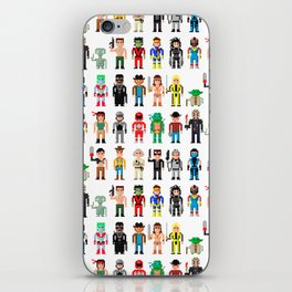 Pixel Characters iPhone Skin