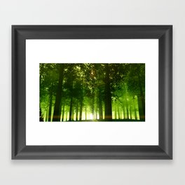 The Green Forest Framed Art Print