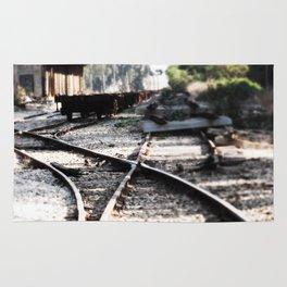 Abandoned Rail Tracks Rug