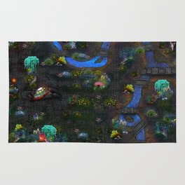 Game map for fantasy world Alien planet Pod's transmission game art Rug