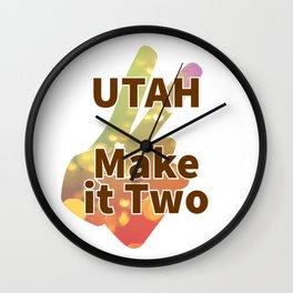 UTAH Make it Two Wall Clock