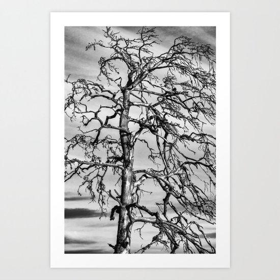 Still Standing - black edition Art Print