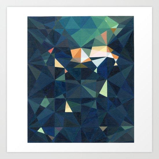 Green illumination Art Print