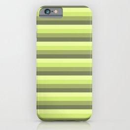 green pattern horizontal stripes buntes Muster motivo verde iPhone Case