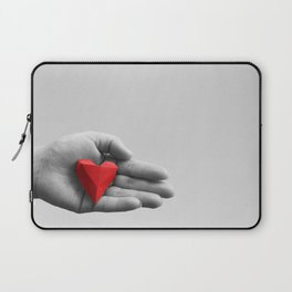 hand with red heart Laptop Sleeve