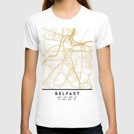 BELFAST UNITED KINGDOM CITY STREET MAP ART T-shirt