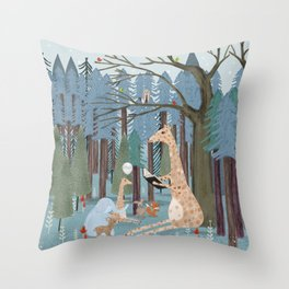 little story time Throw Pillow