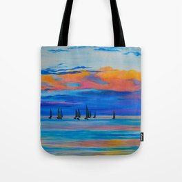 I'd Rather Be Sailing by Teresa Thompson Tote Bag