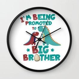 Big Brother Dinosaur Brothers Wall Clock