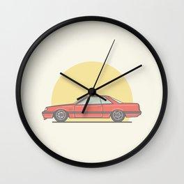 Nissan Skyline R31 Vector illustration Wall Clock