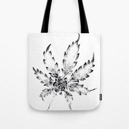 Black & White (Cannabis Resin Leaf) Tote Bag
