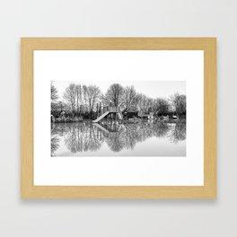 Flooded playground Framed Art Print