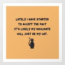 Cat Soulmate Art Print