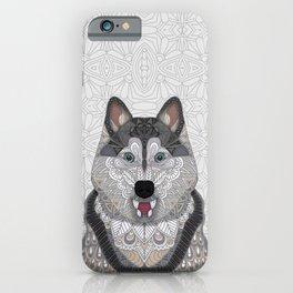 Happy Husky iPhone Case