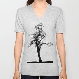 Einsamer Baum Unisex V-Neck