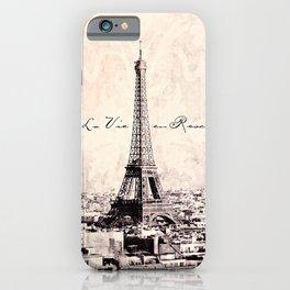 la Vie en Rose vintage iPhone Case