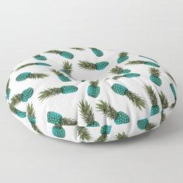 pinapples teal Floor Pillow