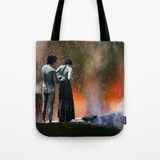 volcanic beach Tote Bag