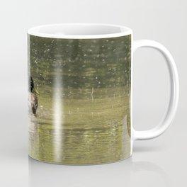 Duck going quackers with a splash Coffee Mug