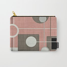 Orbs & Squares Pink Carry-All Pouch