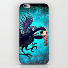 Crow Stealing an Eye iPhone & iPod Skin