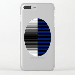 Different Sides (Blue) Clear iPhone Case