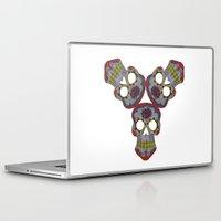 sugar skulls Laptop & iPad Skins featuring Sugar Skulls by Weeverbee