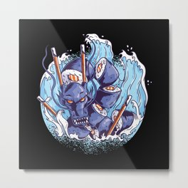 Dragon Sushi Metal Print