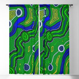 Authentic Aboriginal Art -The Inland Rail Blackout Curtain