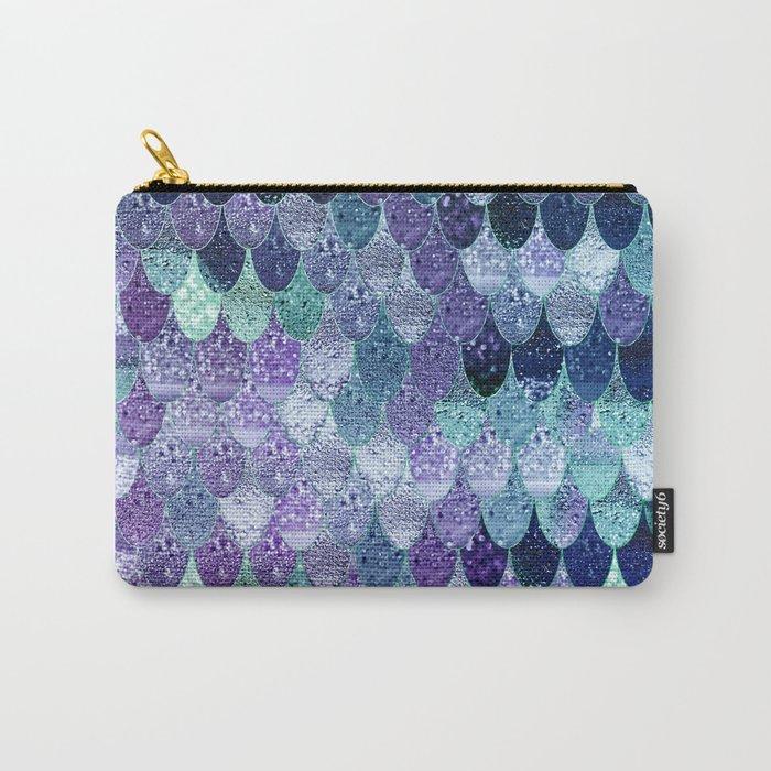 SUMMER MERMAID  Purple & Mint by Monika Strigel Carry-All Pouch