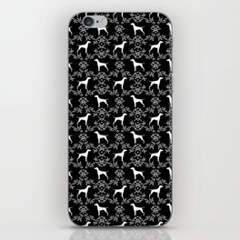 Vizsla dog breed minimal pattern floral black and white pastel dog gifts vizlas breed iPhone Skin