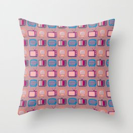 Television Sets Throw Pillow