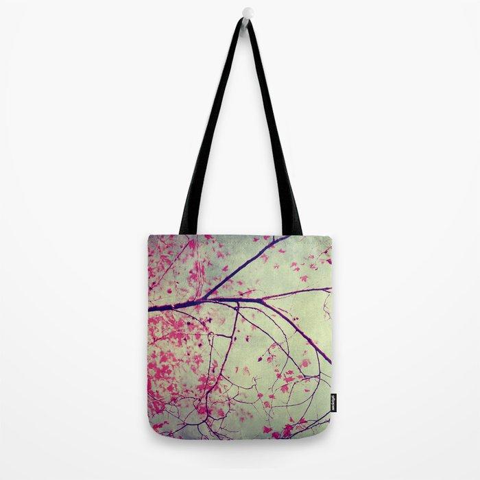 tree pink leaves Tote Bag