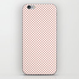 Coral Pink Polka Dots iPhone Skin